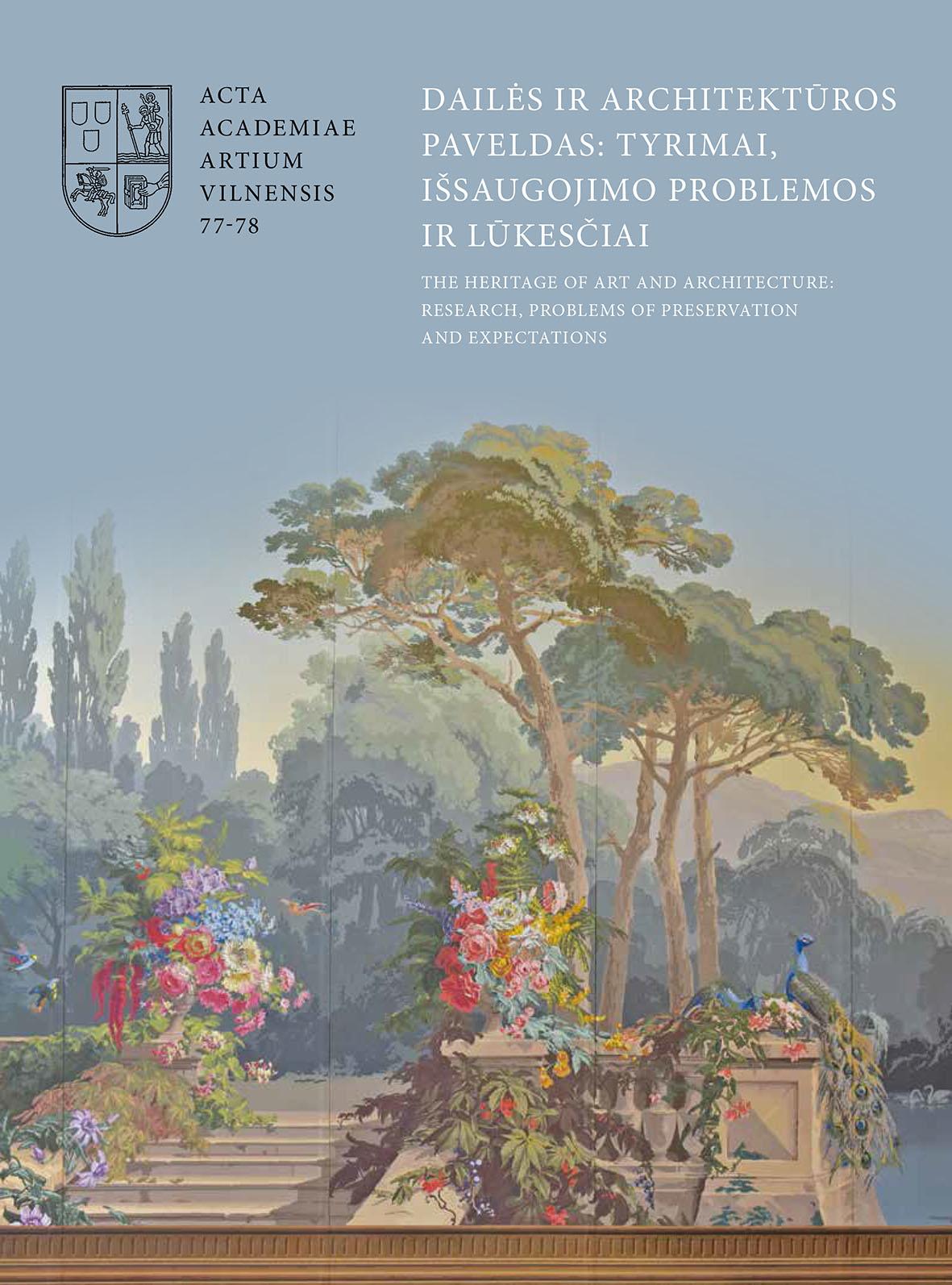 Dailės ir architektūros paveldas: tyrimai, išsaugojimo problemos ir lūkesčiai