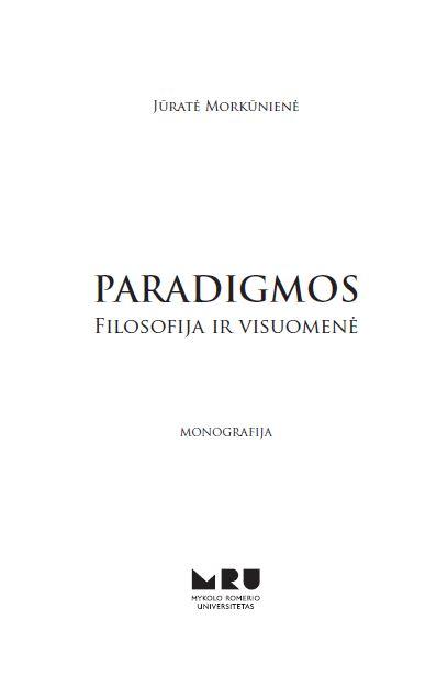 Paradigmos. Filosofija ir visuomenė