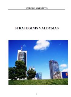 Strateginis valdymas: teorinė praktinė studija