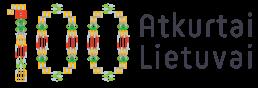 Atkurtai Lietuvai 100 logotipas