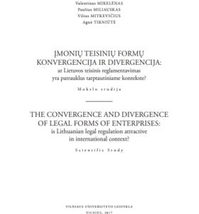 Įmonių teisinių formų konvergencija ir divergencija: ar Lietuvos teisinis reglamentavimas yra patrauklus tarptautiniame kontekste?