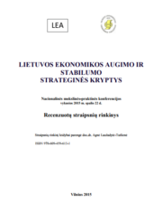 Lietuvos ekonomikos augimo ir stabilumo strateginės kryptys