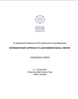 Interdisciplinary approach to law in modern social context